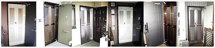 玄関網戸の施工例