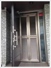 玄関網戸戸建て施工例2